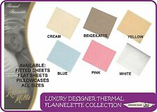 Thermal Flannelette Bedding - Choice of Fitted Sheets, Flat Sheets or Pillowcase