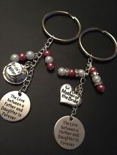 Wedding Mother of the Bride Groom & Father of Bride Groom Gift Favour Keyring