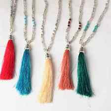 2016 Bohemian Beaded Tassel Pendant Necklace Long Sweater Chain Jewelry Hippy