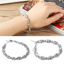 Girl's Silver Plated Bangle Charm Bracelet Pendant Jewelry Cute Nice Gift