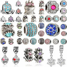 Newest Delicate Rhinestone Crystal Beads Pendant Fit For Bracelet Necklace Chain