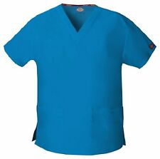 Dickies Scrubs 86706 V Neck Scrub Top Dickies EDS Signature Riviera Blue