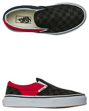 New Vans Boys Classic Slip-On Checkerboard Shoe Rubber Black
