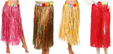 Hawaiian Fancy Dress Hula Grass Skirts Lei Flower Accessories Adult Skirts Lot
