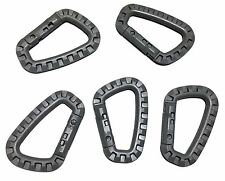 5pcs New High Quality Grimloc Carabiner D-Ring Plastic Black/Green/Grey/Coyote