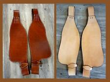 Showman Light/ Tan Western Saddle Pair of Smooth leather Replacement Fenders NEW