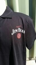 JIM BEAM - MENS BLACK POLO TOP - NEW - SIZE SMALL TO 2XL