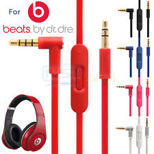 Replacement 3.5mm Mic Audio Cable Cord For Beats By Dr Dre PRO DETOX Headphones
