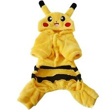 Pet Dog Cat Puppy Hoodie Coat Pikachu Sweater Clothes Apparel Jacket Costume NEW