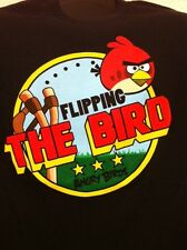 Angry Birds Flipping the Bird Authentic Mens T-Shirt movie Funny Graphic Tee