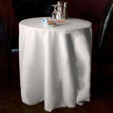 """Summerfield New Pack of (10) 120"""" White Round Tablecloths Seamless 100% Heavy"""