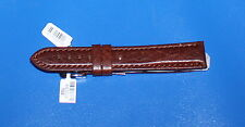 Padded Camel Grain  20mm Watch Strap - brown