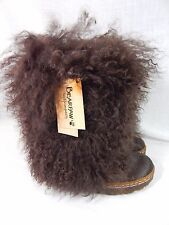 NIB Bearpaw FUR BOOTS Boetis II Curly Lamb Sheepskin CHOCOLATE BROWN~6 THRU 11