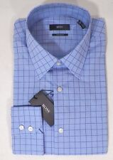 HUGO BOSS ENZO US BLACK LABEL DRESS SHIRT REGULAR FIT BLUE / PURPLE CHECKED-NWT