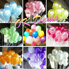 "100pcs 10 "" Colorful  Pearl Latex Balloons Celebration Party Wedding Birthday KY"