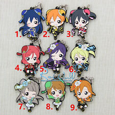 T175 Hot Japan anime Lovelive Love Live! rubber Keychain Key Ring Rare cosplay