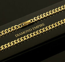 Curb Chain Necklace 5 mm Real 750 Gold 18K Gold plated Unisex K1807