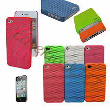 for iPhone 4 4g 4S perforated six colors hard case blue hot pink white orange