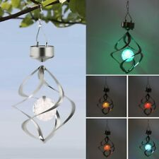 New Solar Powered LED Wind Chime Wind Spinner Outdoor Garden Courtyard DP