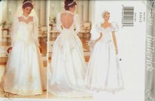 Butterick 3839 Wedding Bridal Gown Dress sewing pattern lace bodice UNCUT FF NEW