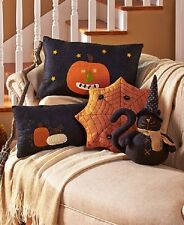 Halloween Pillows Primitive Country decor embroidered polyfilled decor spooky