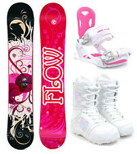 2017 FLOW Tula 140cm Women's Snowboard+M3 Bindings+M3 Boots NEW