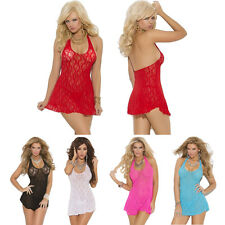 Sexy Lady Lace Lingerie Sleepwear Night Babydoll Underwear Mini Dress Pajamas