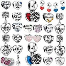 New Design Fashion Letter Bead 925 Sterling Silver Charms Fit 3mm Bracelet Chain