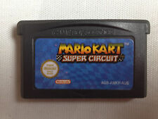 MARIO KART SUPER CIRCUIT GBA GAMEBOY ADVANCE NINTENDO GAME BOY SUPER MARIO RARE!