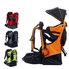Outdoor Baby Child Kid Toddler Backpack Carrier Stand Folding Back Chair 4 Color