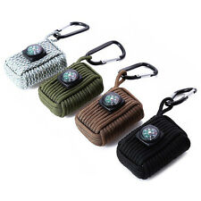 Multifunction Outdoor Survival Emergency Paracord Fishing Tool Kit Keychain Bag