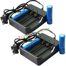 4x 18650 3.7V UF 3800mAh Li-ion Rechargeable Battery for LED Torch + Charger