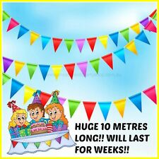 MASSIVE 10 METRE RAINBOW BUNTING FLAG/PARTY DECORATIONS/PARTY SUPPLIES ONLINE!!