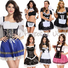 Sexy Adult French Maid Dress & Romper Women Costume Halloween Cosplay USA