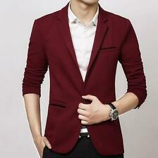 Mens Casual Slim Fit One Button Suit Blazer Coat prom party formal jacket