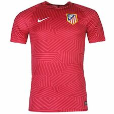 Nike Atletico Madrid Pre Match Jersey Mens Fushia/Red Football Soccer Shirt Top
