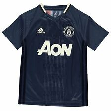 Adidas Manchester United FC Training Jersey Juniors Blue/Navy Football Soccer
