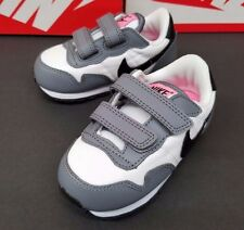 Nike Trainers Kids Metro Plus Cl Tdv Grey/White/Pink Shoes New In Box