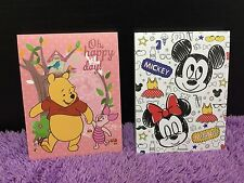 Disney Winnie The Pooh Mickey Mouse Minnie Note Memo Pad Message Shoppinglist