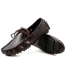 mens slip on moccasin gommino driving shoes loafer lace up casual flat shoes