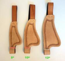 "Kids Youth 8"" 10"" 12"" Western Saddle Pair Smooth leather Replacement Fenders Med"