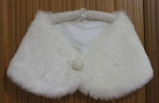 New Bridal gown jacket Faux fur shawl White/Ivory Stole Wedding dress wrap Shrug