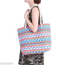 Women Ethnic Style Casual Geometric Plaid Print Twist String Canvas Shoulder Bag