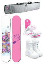M3 ESCAPE 144 Womens Snowboard+Luna Bindings+M3 Boots+Padded Bag NEW