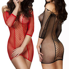 Hot Sexy Women's Lingerie Nightwear Underwear Babydoll Sleepwear Fishnet Dress
