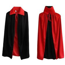 Halloween Party Cosplay Clothing Long Double-deck Black Red Cloak Death Devil