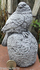 Small Bird on a Rock. Hand Cast Stone Garden Ornament. 8 x 8 x 14 cms 0.81 kilos