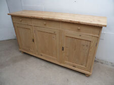 A Lovely Reclaimed Large 3 Door 3 Drawer Kitchen Dresser Base to Paint/Wax