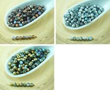 100pcs Matte Rainbow Round Czech Glass Beads Small Spacer Wedding 3mm