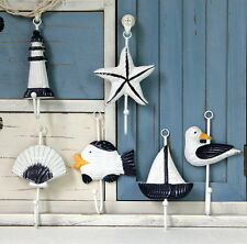 Italian Ocean Sailing Boat Starfish Beacon Home Decor Bathroom Wall Hanger Hook